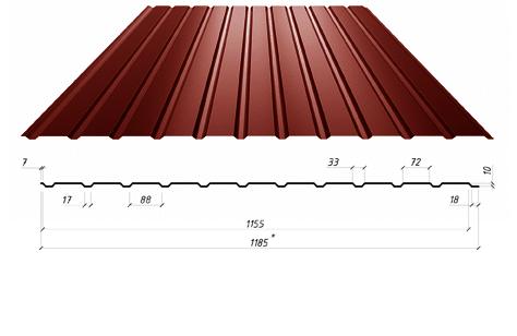 Профилированный лист С-12
